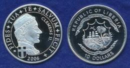 Liberia 10 Dollars 2006 Clemens II. Ag999 20g - Liberia