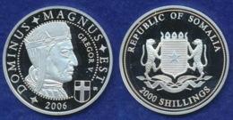 Somalia 2000 Sh. 2006 Gregor V. Ag999 20g - Somalia