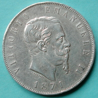 Italie - Pièce De Monnaie 5 Lire Vittorio Emanuele II 1871 Milano Argent - 1861-1878 : Victor Emmanuel II