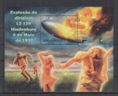 T248. Mozambique MNH - 2012 - Transport - Aviation - Zeppelin - Hindenburg - Bl - Transports
