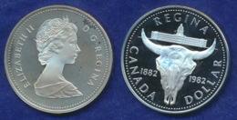 Kanada 1 Dollar 1982 100 Jahre Regina Ag500 23,3g - Canada