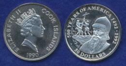 Cook-Inseln 50 Dollar 1990 Pedro Alvares Cabral Ag925 1oz - Cook