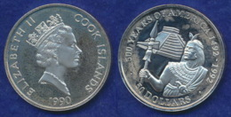 Cook-Inseln 50 Dollar 1990 Inka-Fürst Ag925 1oz - Cook Islands