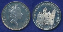 Cook-Inseln 50 Dollar 1991 Jesuitenkirche Cuzco Ag925 1oz - Cook