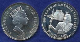 Cook-Inseln 50 Dollar 1990 Inka-Fürst Ag925 1oz - Cook