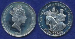 Cook-Inseln 50 Dollar 1991 Kaiser Maximilian Ag925 1oz - Cook