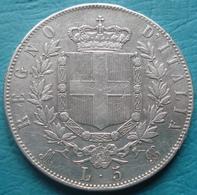 Italie - Pièce De Monnaie 5 Lire Vittorio Emanuele II 1872 Milan Argent - 1861-1878 : Victor Emmanuel II