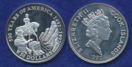 Cook-Inseln 50 Dollar 1992 Francisco De Coronado Ag925 1oz - Cook