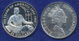 Cook-Inseln 50 Dollar 1993 De La Costa Ag925 1oz - Cook
