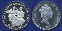 Cook-Inseln 50 Dollar 1991 Kaiser Maximilian Ag925 1oz - Cook Islands