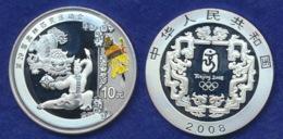 China 10 Yuan 2008 Bauerntanz Ag999 1oz - China