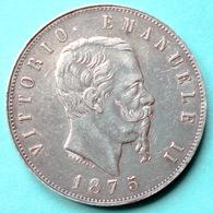 Italie - Pièce De Monnaie 5 Lire Vittorio Emanuele II 1875 Milano Argent - 1861-1878 : Victor Emmanuel II
