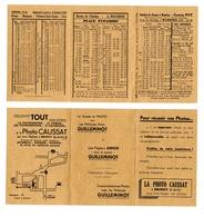 Horaires De Trains PLM + Autobus De 1935 / Publicité Brunoy (91) - Europe