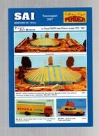 Catalogue SAI Miniatures H0 - 1/87 ème Collection Cirque Pinder Nouveautés 2007 - Citroen 2CV Fourgonnette - Saviem SG 2 - Catalogues & Prospectus