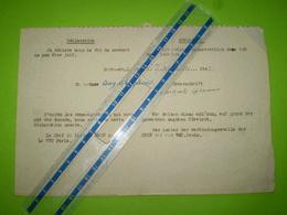 Non Juif SNCF WVD Paris St Lazare. Wehrmacht Verkehrs Direktion, Déclaration En Français & En Allemand - Historical Documents