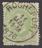 """COB 30 - Oblitération """"CONCOURS"""" S. C.- ROCHEFORT - 1869-1883 Leopold II"""