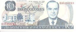 Costa Rica  P-237b  10 Colones  1985   UNC - Costa Rica