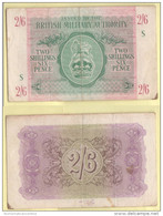 2,6 Shillings 1943 Occupazioni Militari Britanniche War Notes Currency British Military Authority - Military Issues