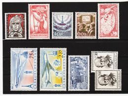 Post191 TSCHECHOSLOWAKEI CSSR 1957 MICHL 1040/49 ** Postfrisch SIEHE ABBILDUNG - Tschechoslowakei/CSSR