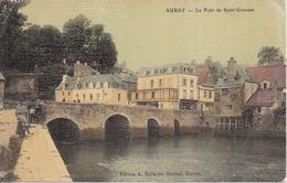 56 AURAY - Le Pont De Saint-Goustan - Belle Carte Toilée Couleur - Petite Animation - Auray
