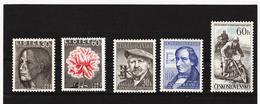 Post192 TSCHECHOSLOWAKEI CSSR 1957 MICHL 1030/34 ** Postfrisch SIEHE ABBILDUNG - Tschechoslowakei/CSSR