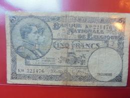 BELGIQUE 5 FRANCS 1938 CIRCULER - [ 2] 1831-... : Royaume De Belgique