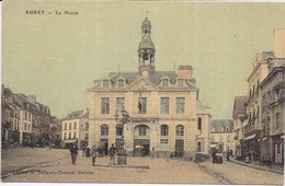 56 AURAY - La Mairie - Belle Carte Toilée Couleur - Petite Animation - Auray