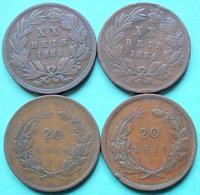 Portugal - 20 XX Reis 1883 - 1884 - 1891 - 1892 Lot 4 Pièces De Monnaie - Portugal