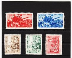Post194 TSCHECHOSLOWAKEI CSSR 1952 MICHL 729/33 ** Postfrisch SIEHE ABBILDUNG - Tschechoslowakei/CSSR
