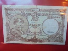 BELGIQUE 20 FRANCS 5-1- 1945 CIRCULER - [ 6] Trésorerie