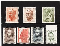 Post195 TSCHECHOSLOWAKEI CSSR 1952 MICHL 734/40 ** Postfrisch SIEHE ABBILDUNG - Tschechoslowakei/CSSR