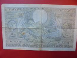 BELGIQUE 100 FRANCS 1938 CIRCULER - 100 Francs & 100 Francs-20 Belgas