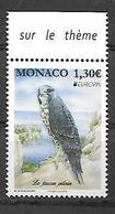 Monaco 2019 - Yv N° 3188 ** - Faucon Pélerin - Monaco