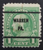 USA Scott #632  - Precancel Warren, Pennsylvania (1927) - Estados Unidos