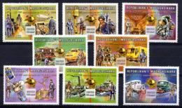 MADAGASCAR 1999, UPU, Avions, Trains, Bateaux, Camions, Satellites... 8 Valeurs, Neufs / Mint. R1251 - UPU (Wereldpostunie)