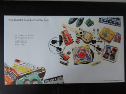 GB 2007 FDC - Miniature Sheet The Beatles Tallents Postmark Music Guitar Records Harmonica Shoes - FDC