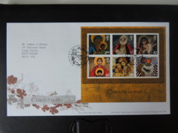 GB 2005 FDC - Miniature Sheet Christmas Tallents Postmark First Day Cover Religion - FDC