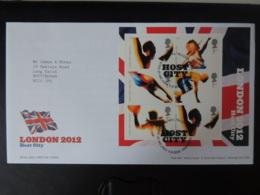 GB 2005 FDC - Miniature Sheet London 2012 Host City Tallents Postmark Olympics Sport Javelin Diving - FDC