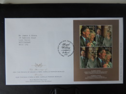 GB 2005 FDC - Miniature Sheet Royal Wedding Tallents Postmark First Day Cover Royalty Charles Camilla - FDC