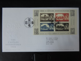 GB 2005 FDC - Miniature Sheet Castle Definitives Tallents Postmark First Day Cover - FDC
