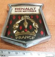 RENAULT Stemma Auto Voitures Nationale France Cars Plaque Plate Placca Anni '70 - Automobili