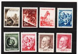 Post196 TSCHECHOSLOWAKEI CSSR 1952 MICHL 709/16 ** Postfrisch SIEHE ABBILDUNG - Tschechoslowakei/CSSR