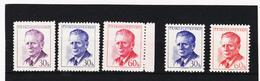 Post197 TSCHECHOSLOWAKEI CSSR 1958 MICHL 1081/82 A + C ** Postfrisch SIEHE ABBILDUNG - Tschechoslowakei/CSSR