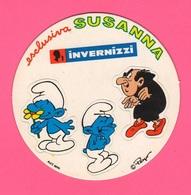 Adesivi Pubblicitari Formaggini Invernizzi SUSANNA Puffi Fromage Cheese Käse - Stickers