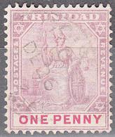 TRINIDAD   SCOTT NO. 77    USED    YEAR  1896    WMK--2   TYPE 2 - Trinidad & Tobago (...-1961)