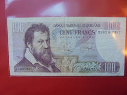 BELGIQUE 100 FRANCS 1975 CIRCULER - [ 2] 1831-... : Reino De Bélgica