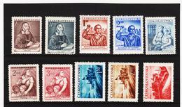 Post199 TSCHECHOSLOWAKEI CSSR 1952 MICHL 717/26 ** Postfrisch SIEHE ABBILDUNG - Tschechoslowakei/CSSR