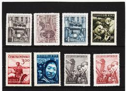 Post200 TSCHECHOSLOWAKEI CSSR 1951 MICHL 647/54 ** Postfrisch SIEHE ABBILDUNG - Tschechoslowakei/CSSR