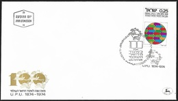 1974 - ISRAEL - FDC + Michel 619 [UPU] + JERUSALEM - FDC