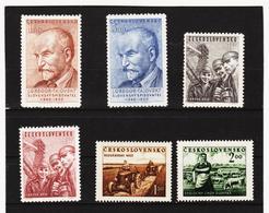 Post201 TSCHECHOSLOWAKEI CSSR 1950/51 MICHL 636/37 + 653/56 ** Postfrisch SIEHE ABBILDUNG - Tschechoslowakei/CSSR